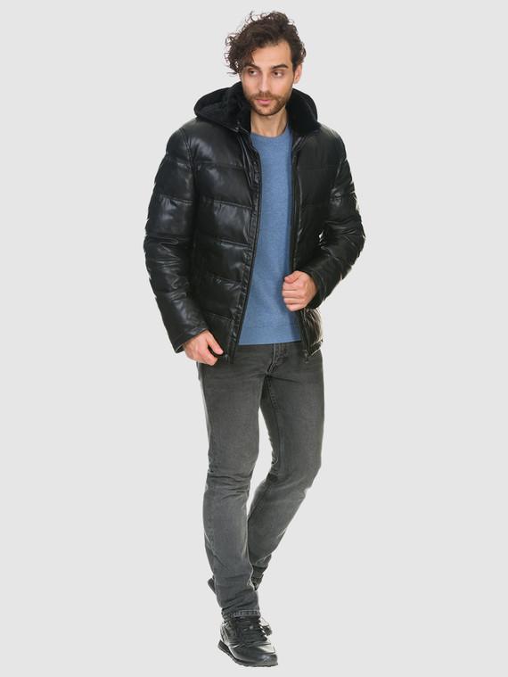 Кожаная куртка эко кожа 100% П/А, цвет черный, арт. 18902663  - цена 10590 руб.  - магазин TOTOGROUP