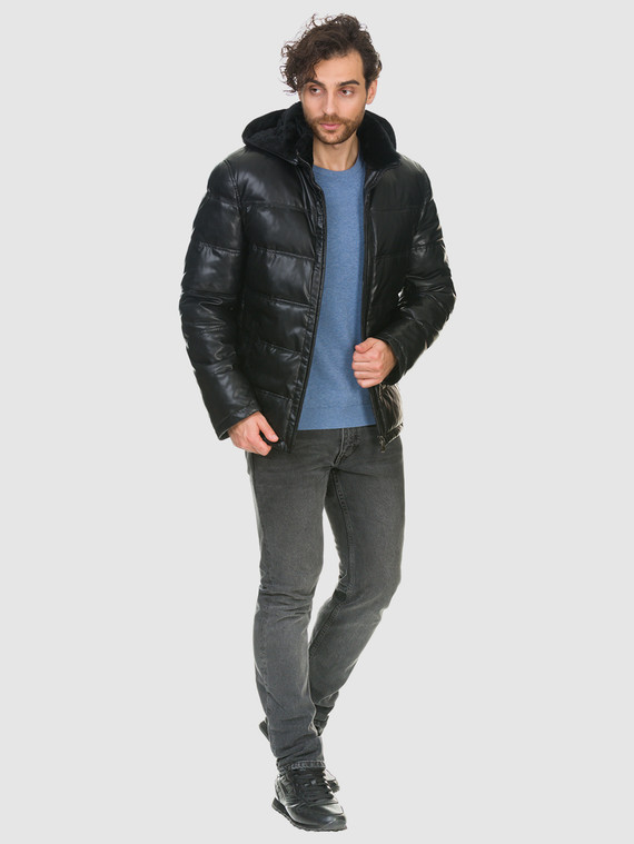 Кожаная куртка эко кожа 100% П/А, цвет черный, арт. 18902663  - цена 7490 руб.  - магазин TOTOGROUP