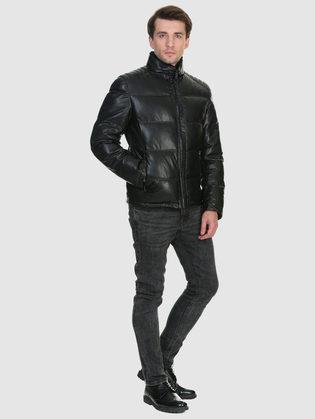 Кожаная куртка эко кожа 100% П/А, цвет черный, арт. 18902668  - цена 9990 руб.  - магазин TOTOGROUP