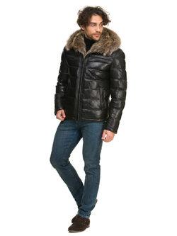 Кожаная куртка кожа овца, цвет черный, арт. 18902671  - цена 25590 руб.  - магазин TOTOGROUP