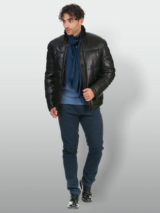 Кожаная куртка кожа овца, цвет черный, арт. 18902675  - цена 19990 руб.  - магазин TOTOGROUP