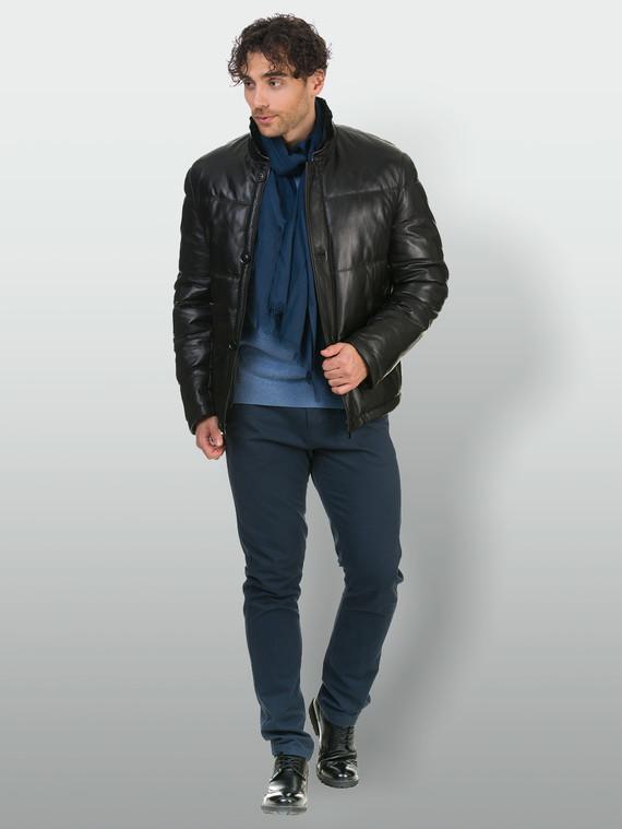 Кожаная куртка кожа , цвет черный, арт. 18902675  - цена 12690 руб.  - магазин TOTOGROUP