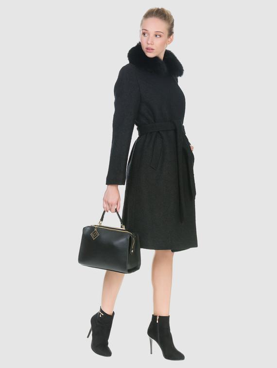Текстильное пальто 70%шерсть,30%п,а, цвет черный, арт. 18902702  - цена 6990 руб.  - магазин TOTOGROUP