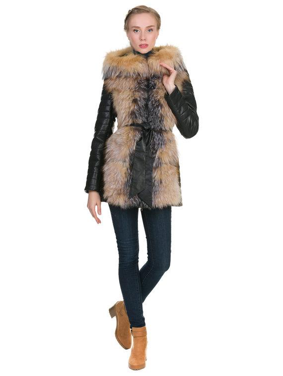 Кожаная куртка эко кожа 100% П/А, цвет черный, арт. 18902722  - цена 11990 руб.  - магазин TOTOGROUP