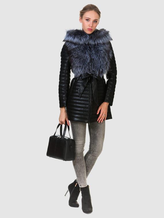 Кожаная куртка эко кожа 100% П/А, цвет черный, арт. 18902723  - цена 11990 руб.  - магазин TOTOGROUP