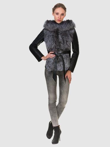 Кожаная куртка эко кожа 100% П/А, цвет черный, арт. 18902724  - цена 13390 руб.  - магазин TOTOGROUP