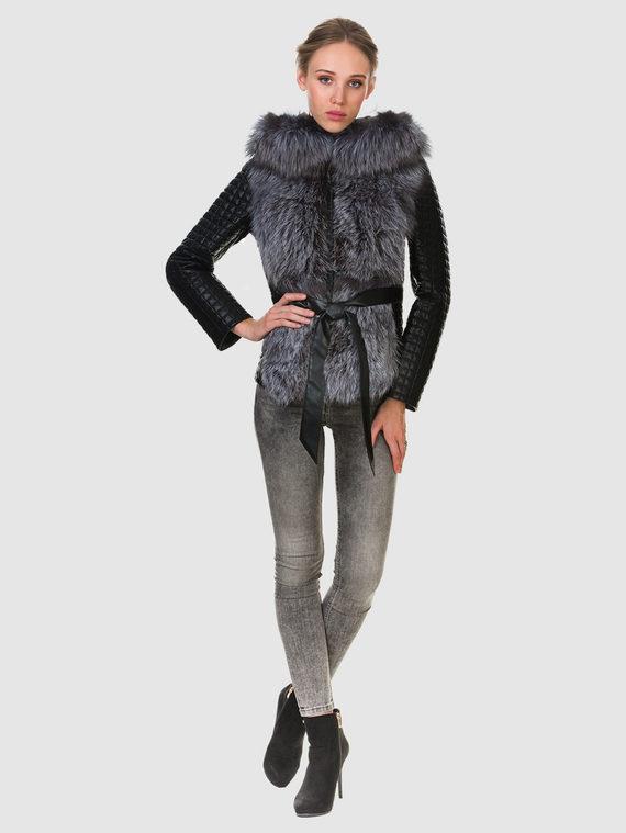Кожаная куртка эко кожа 100% П/А, цвет черный, арт. 18902724  - цена 11990 руб.  - магазин TOTOGROUP