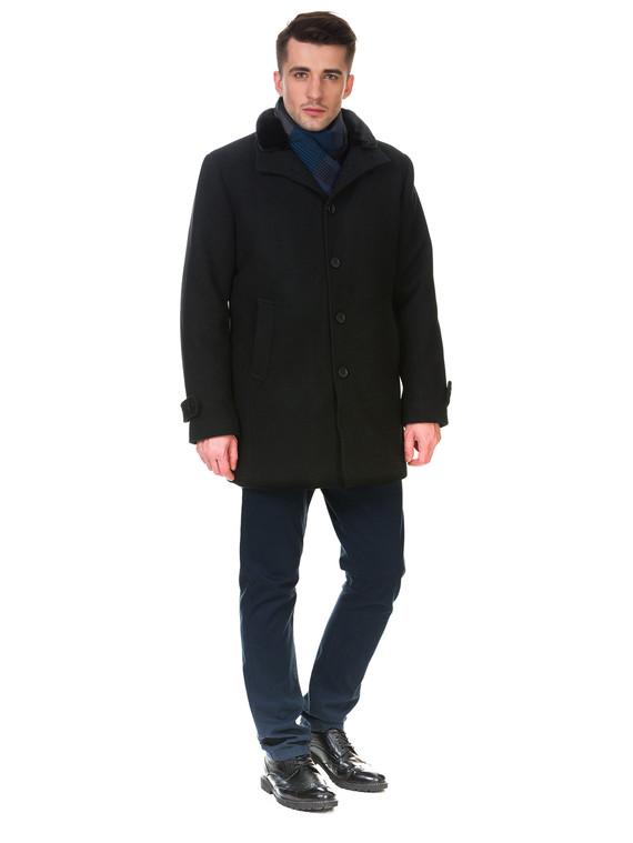 Текстильное пальто 51% п/э,49%шерсть, цвет черный, арт. 18902754  - цена 4990 руб.  - магазин TOTOGROUP