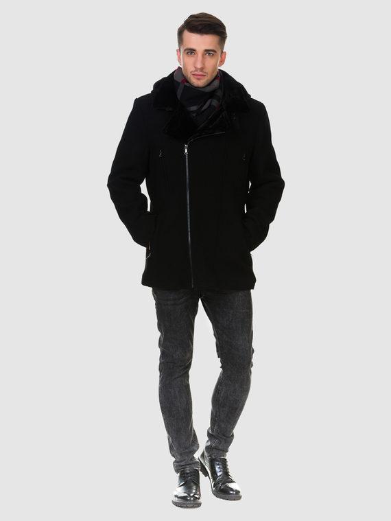 Текстильное пальто 51% п/э,49%шерсть, цвет черный, арт. 18902757  - цена 4740 руб.  - магазин TOTOGROUP