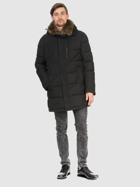 Пуховик текстиль, цвет черный, арт. 18902776  - цена 5890 руб.  - магазин TOTOGROUP