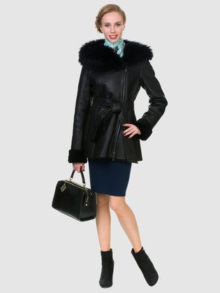 Дубленка дуб. овчина, цвет черный, арт. 18902797  - цена 31990 руб.  - магазин TOTOGROUP