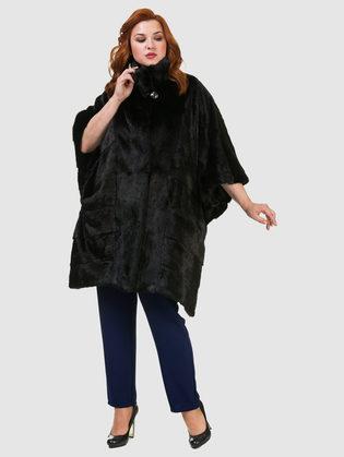 Шуба из норки мех норка крашеная, цвет черный, арт. 18902809  - цена 105990 руб.  - магазин TOTOGROUP