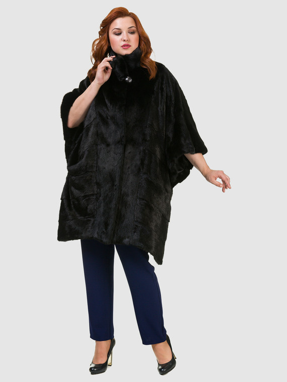 Шуба из норки мех норка, цвет черный, арт. 18902809  - цена 71990 руб.  - магазин TOTOGROUP