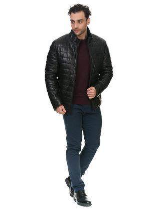 Кожаная куртка кожа овца, цвет черный, арт. 18902815  - цена 25590 руб.  - магазин TOTOGROUP