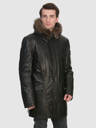 Кожаная куртка кожа овца, цвет черный, арт. 18902819  - цена 35990 руб.  - магазин TOTOGROUP