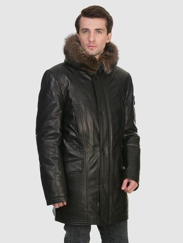 Кожаная куртка кожа , цвет черный, арт. 18902819  - цена 22690 руб.  - магазин TOTOGROUP