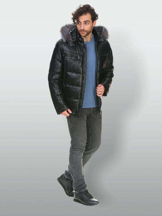 Кожаная куртка эко кожа 100% П/А, цвет черный, арт. 18902834  - цена 9490 руб.  - магазин TOTOGROUP