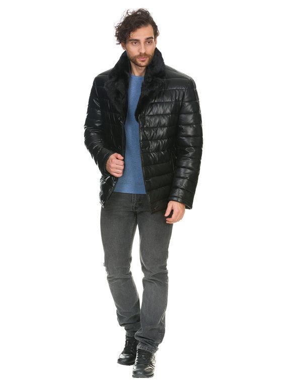 Кожаная куртка эко кожа 100% П/А, цвет черный, арт. 18902835  - цена 8990 руб.  - магазин TOTOGROUP