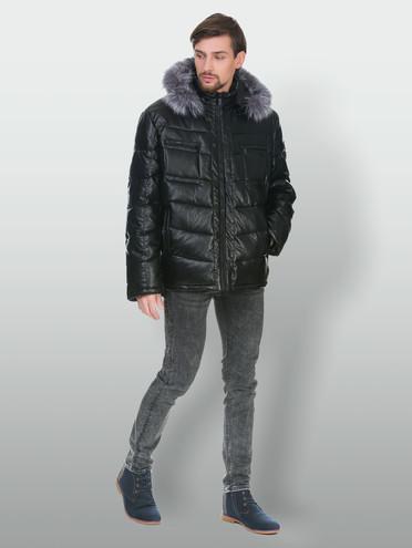 Кожаная куртка эко кожа 100% П/А, цвет черный, арт. 18902836  - цена 8990 руб.  - магазин TOTOGROUP