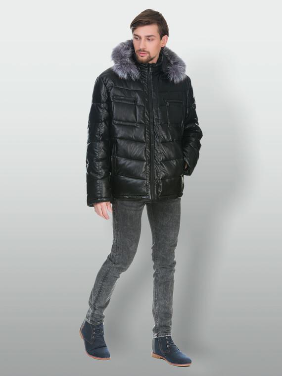 Кожаная куртка эко кожа 100% П/А, цвет черный, арт. 18902836  - цена 6630 руб.  - магазин TOTOGROUP