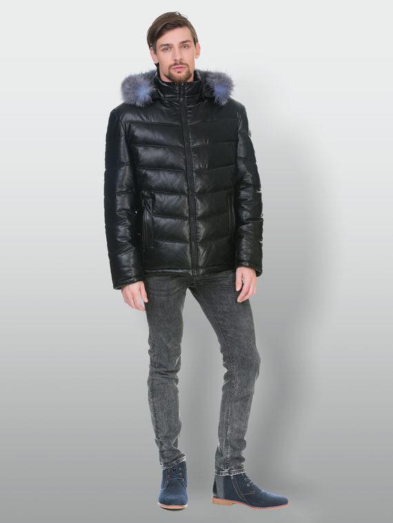 Кожаная куртка эко кожа 100% П/А, цвет черный, арт. 18902837  - цена 6630 руб.  - магазин TOTOGROUP