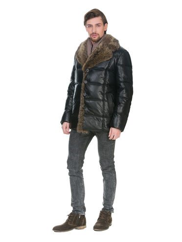 Кожаная куртка эко кожа 100% П/А, цвет черный, арт. 18902838  - цена 8990 руб.  - магазин TOTOGROUP
