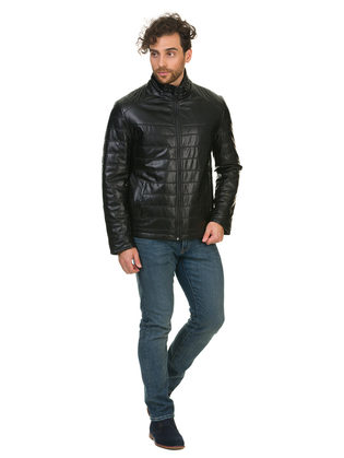 Кожаная куртка эко кожа 100% П/А, цвет черный, арт. 18902839  - цена 3990 руб.  - магазин TOTOGROUP