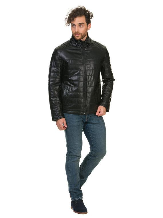 Кожаная куртка эко кожа 100% П/А, цвет черный, арт. 18902839  - цена 3390 руб.  - магазин TOTOGROUP
