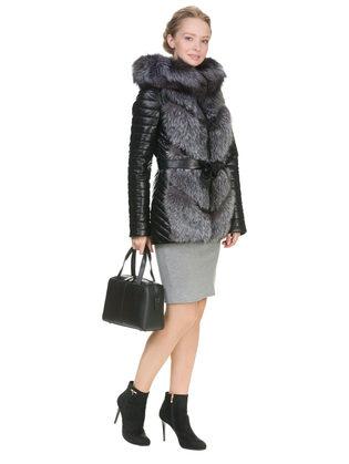 Кожаная куртка эко кожа 100% П/А, цвет черный, арт. 18902843  - цена 18990 руб.  - магазин TOTOGROUP