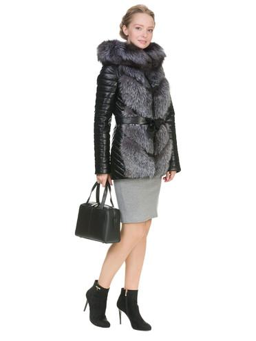 Кожаная куртка эко кожа 100% П/А, цвет черный, арт. 18902843  - цена 14190 руб.  - магазин TOTOGROUP