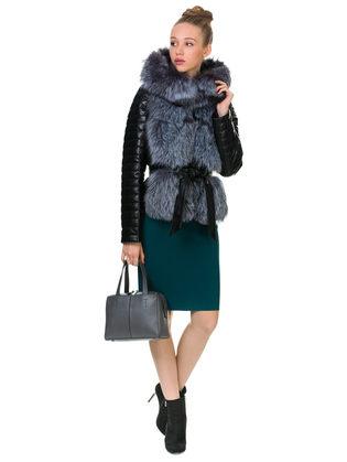 Кожаная куртка эко кожа 100% П/А, цвет черный, арт. 18902845  - цена 16990 руб.  - магазин TOTOGROUP