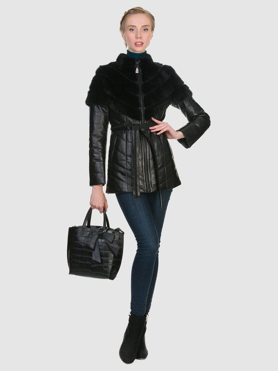 Кожаная куртка кожа коза, цвет черный, арт. 18902899  - цена 19990 руб.  - магазин TOTOGROUP