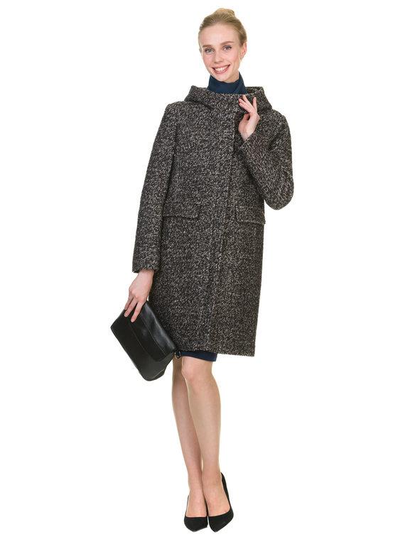 Текстильное пальто 30%шерсть, 70% п\а, цвет черный, арт. 18902907  - цена 3990 руб.  - магазин TOTOGROUP