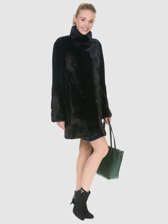 Шуба из норки мех норка, цвет черный, арт. 18902909  - цена 56490 руб.  - магазин TOTOGROUP