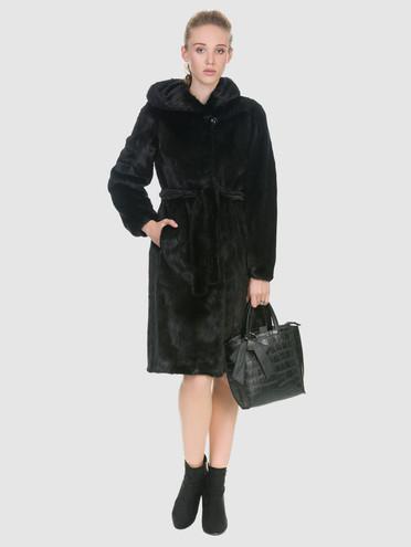 Шуба из норки мех норка, цвет черный, арт. 18902920  - цена 94990 руб.  - магазин TOTOGROUP
