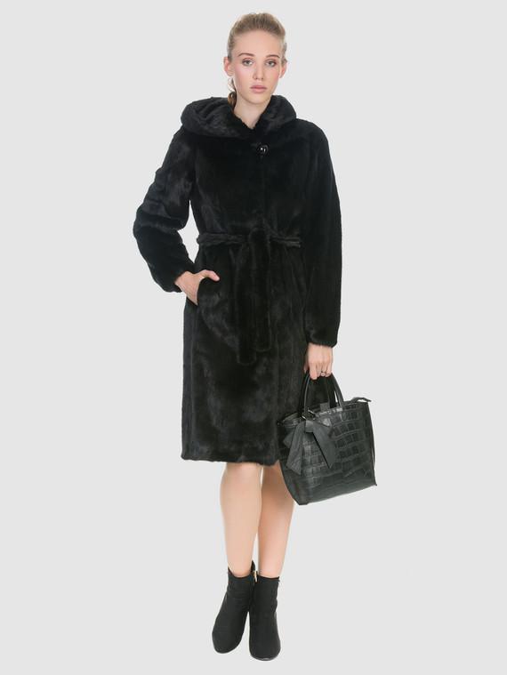 Шуба из норки мех норка, цвет черный, арт. 18902920  - цена 67990 руб.  - магазин TOTOGROUP