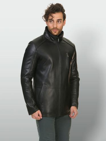 Кожаная куртка кожа баран, цвет черный, арт. 18902941  - цена 14190 руб.  - магазин TOTOGROUP