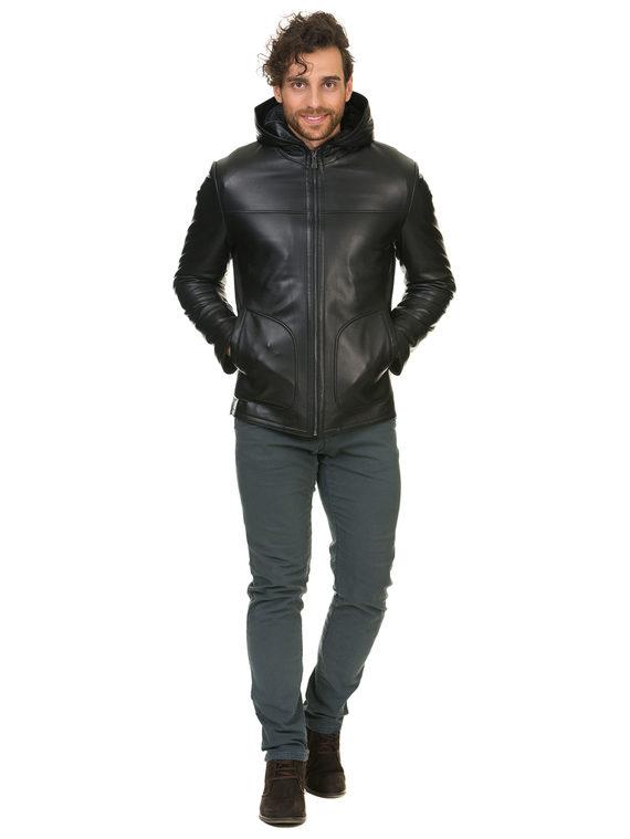 Кожаная куртка кожа баран, цвет черный, арт. 18902945  - цена 13390 руб.  - магазин TOTOGROUP
