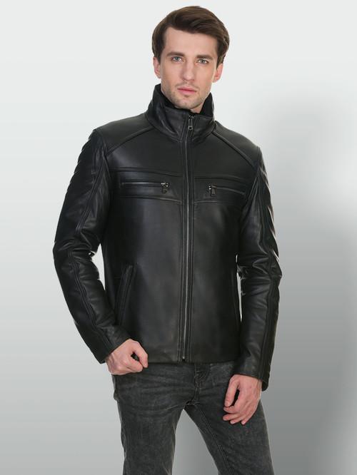 Кожаная куртка артикул 18902946/46 - фото 4