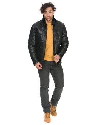Кожаная куртка кожа овца, цвет черный, арт. 18902955  - цена 17990 руб.  - магазин TOTOGROUP