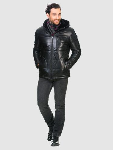 Кожаная куртка кожа , цвет черный, арт. 18902958  - цена 13390 руб.  - магазин TOTOGROUP