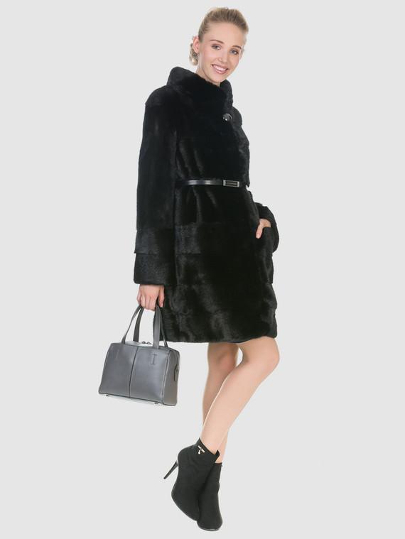 Шуба из норки мех норка, цвет черный, арт. 18902959  - цена 52990 руб.  - магазин TOTOGROUP