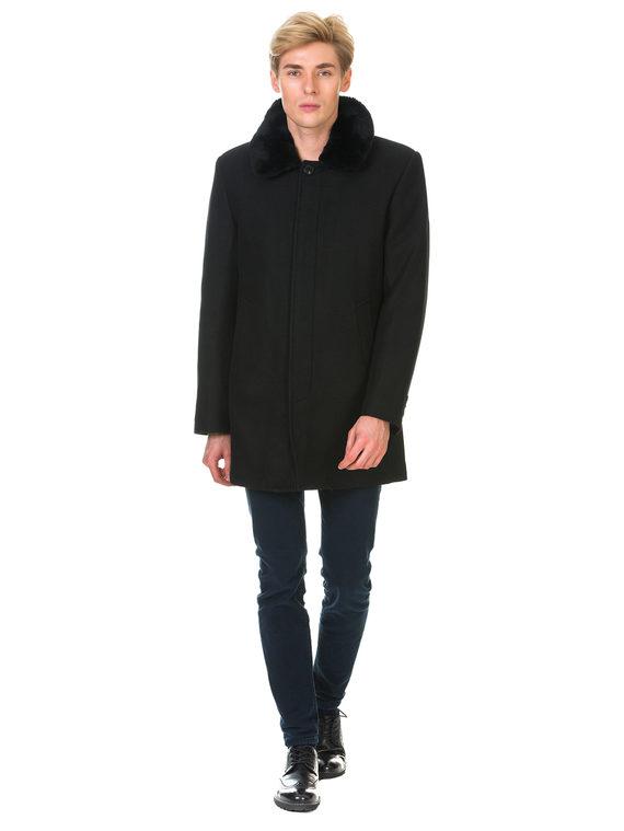 Текстильное пальто 51% п/э,49%шерсть, цвет черный, арт. 18902973  - цена 6290 руб.  - магазин TOTOGROUP