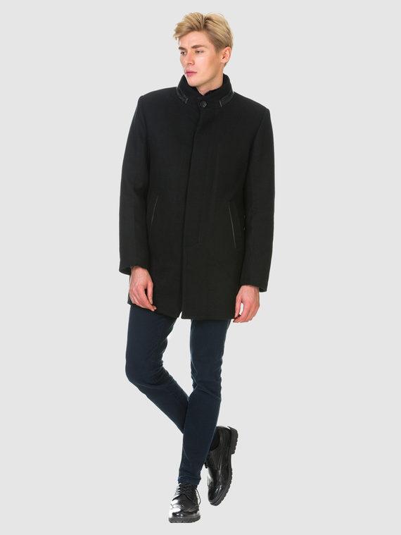 Текстильное пальто 51% п/э,49%шерсть, цвет черный, арт. 18902974  - цена 6290 руб.  - магазин TOTOGROUP