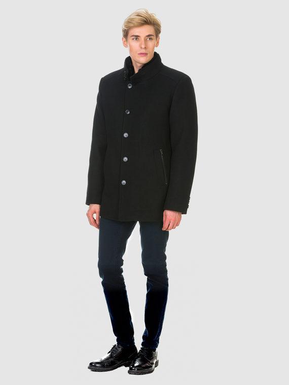 Текстильное пальто 51% п/э,49%шерсть, цвет черный, арт. 18902975  - цена 6290 руб.  - магазин TOTOGROUP