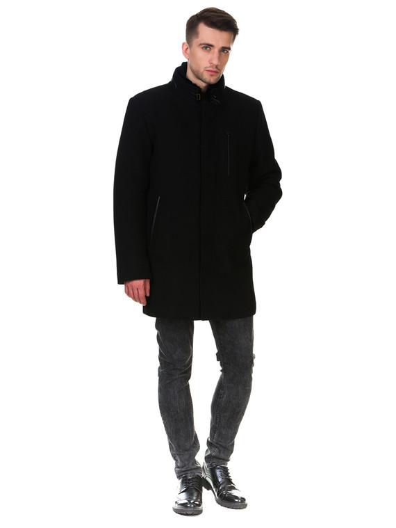 Текстильное пальто 51% п/э,49%шерсть, цвет черный, арт. 18902976  - цена 6290 руб.  - магазин TOTOGROUP