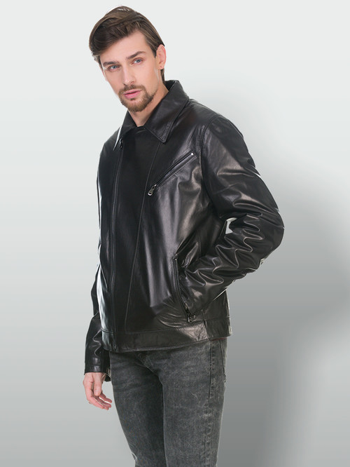 Кожаная куртка артикул 18902980/48 - фото 4