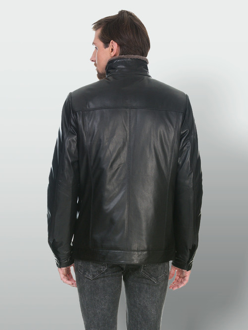 Кожаная куртка артикул 18902986/48 - фото 3