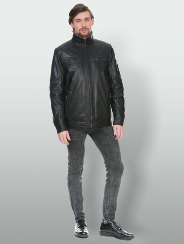 Кожаная куртка кожа коза, цвет черный, арт. 18902986  - цена 8490 руб.  - магазин TOTOGROUP