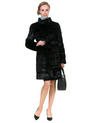 Шуба под норку мех под норку, цвет черный, арт. 18902992  - цена 12690 руб.  - магазин TOTOGROUP